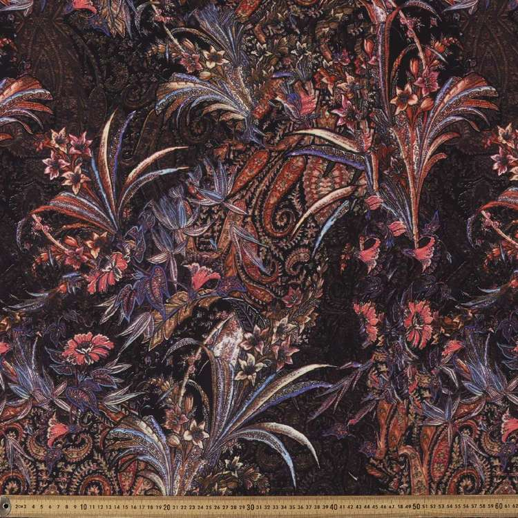 Les Orient #2 Printed Poly CDC Crepe Fabric