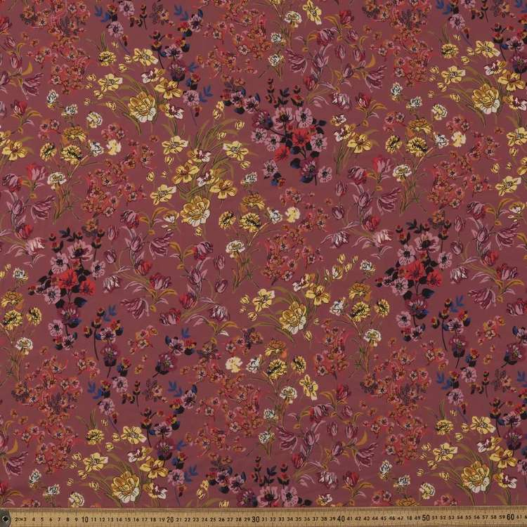 Les Orient #3 Printed Poly CDC Crepe Fabric  Musk 147 cm