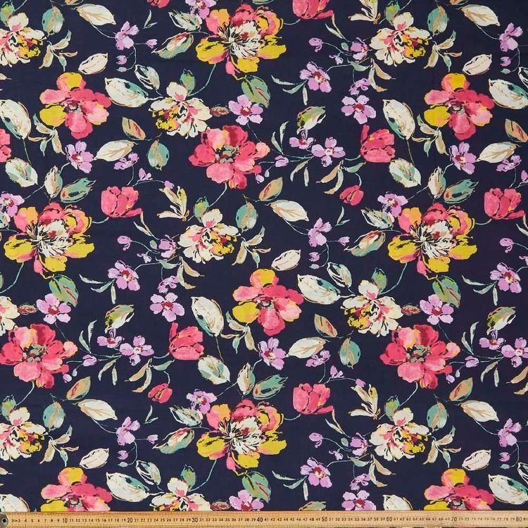 Big Bloom Printed 112 cm Country Garden TC Fabric