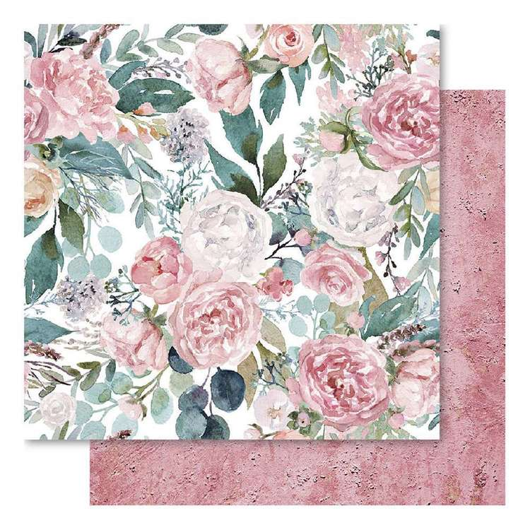 Bella! Mini Themes Blush Florals Cardstock