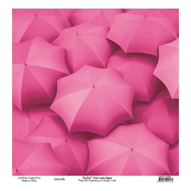 Bella! Paper World Pink Lady Umbrella Cardstock