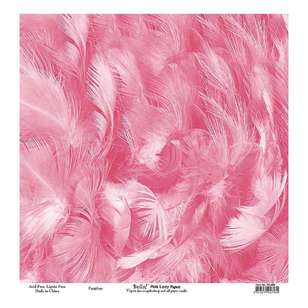 Bella! Paper World Pink Lady Feather Cardstock