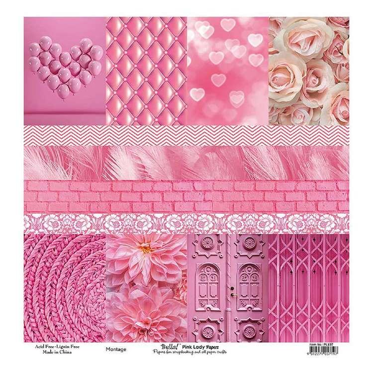 Bella! Paper World Pink Lady Montage Cardstock