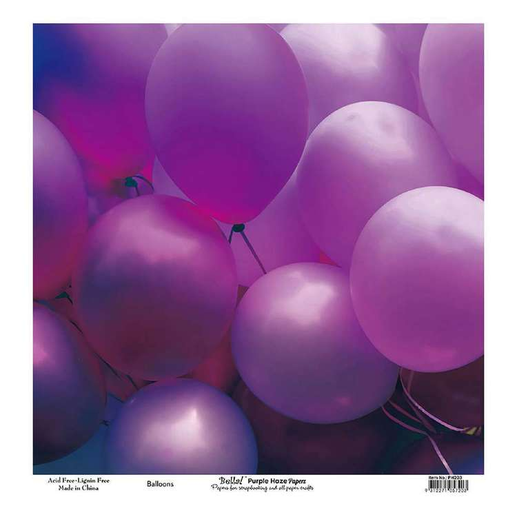 Bella! Paper World Purple Haze Balloons Cardstock