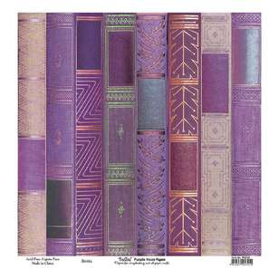 Bella! Paper World Purple Haze Books Cardstock