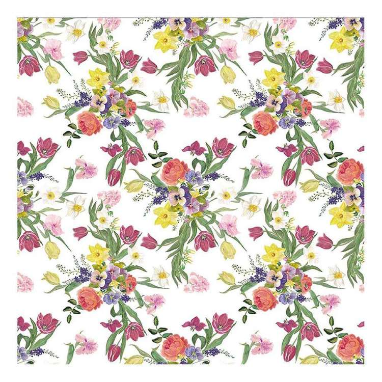 Bella! Paper World Fancy Floral Bouquet Cardstock