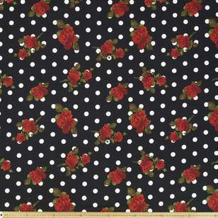 Spot The Rose Printed 127 cm Cotton Sateen Fabric