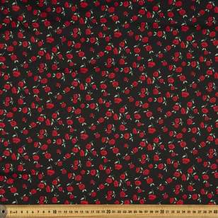 Dainty Rose Printed 127 cm Cotton Sateen Fabric
