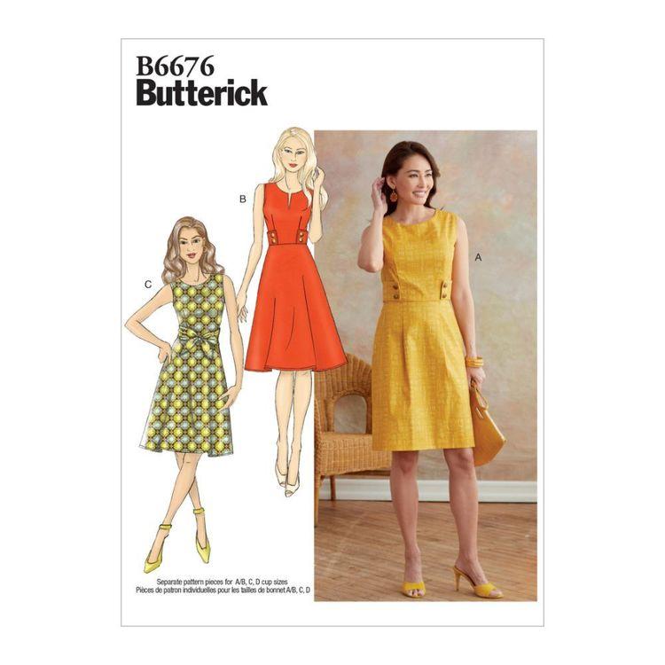 Butterick Pattern B6676 Misses' Dress