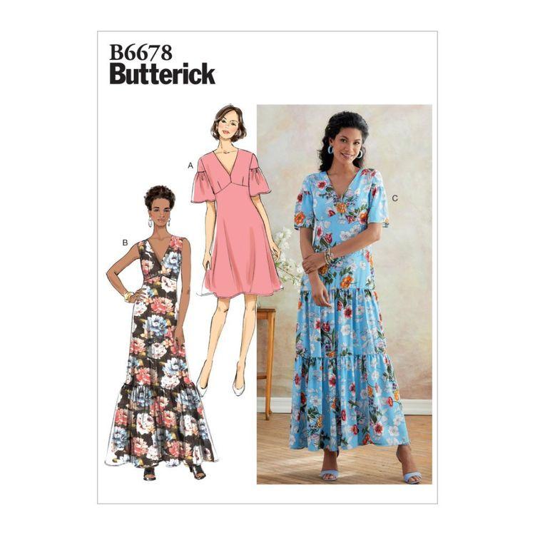 Butterick Pattern B6678 Misses'/Misses' Petite Dress