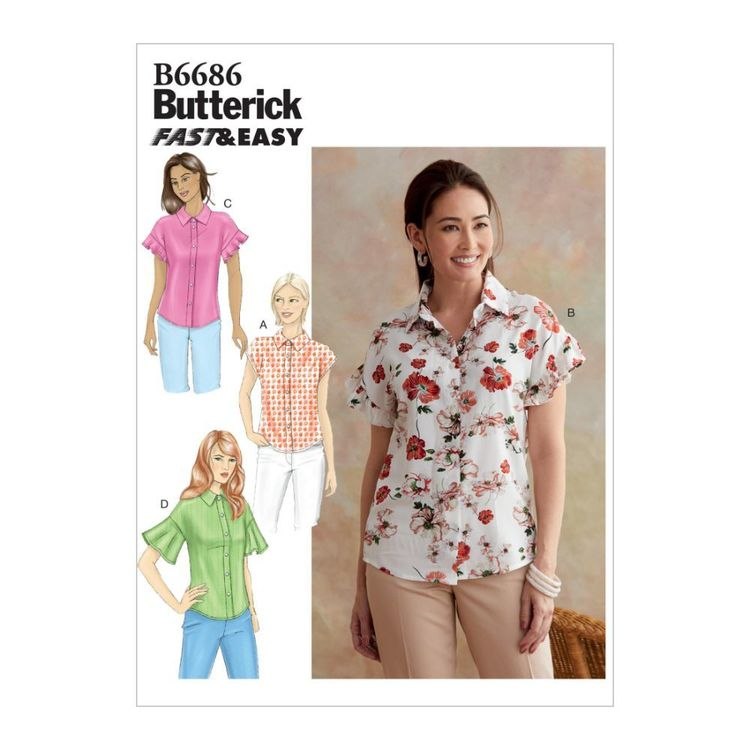 Butterick Pattern B6686 Fast & Easy Misses' Top