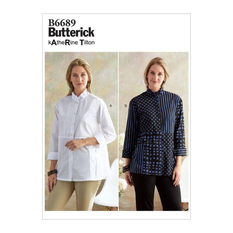 Butterick Pattern B6689 Katherine Tilton Misses' Shirt