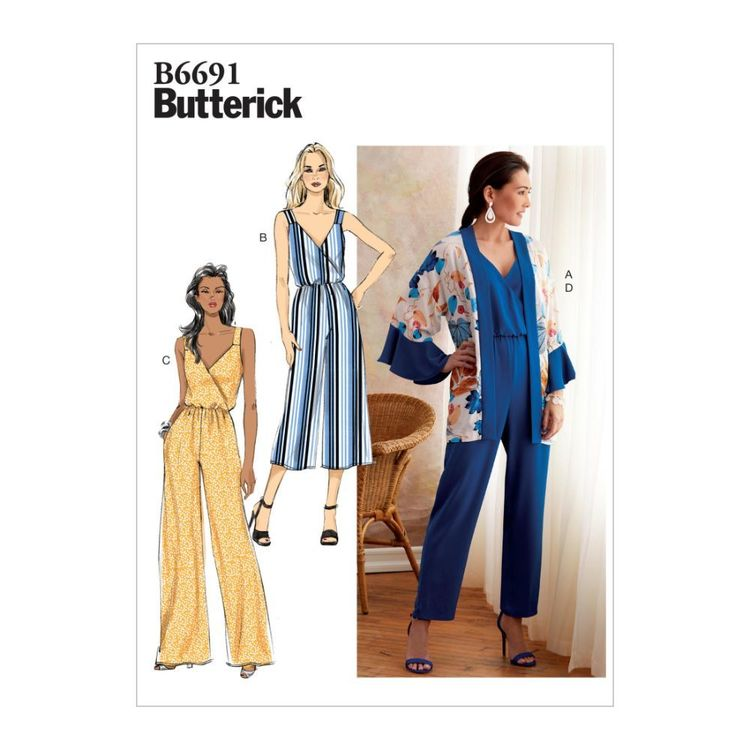 Butterick Pattern B6691 Misses' Jacket and Jumpsuit