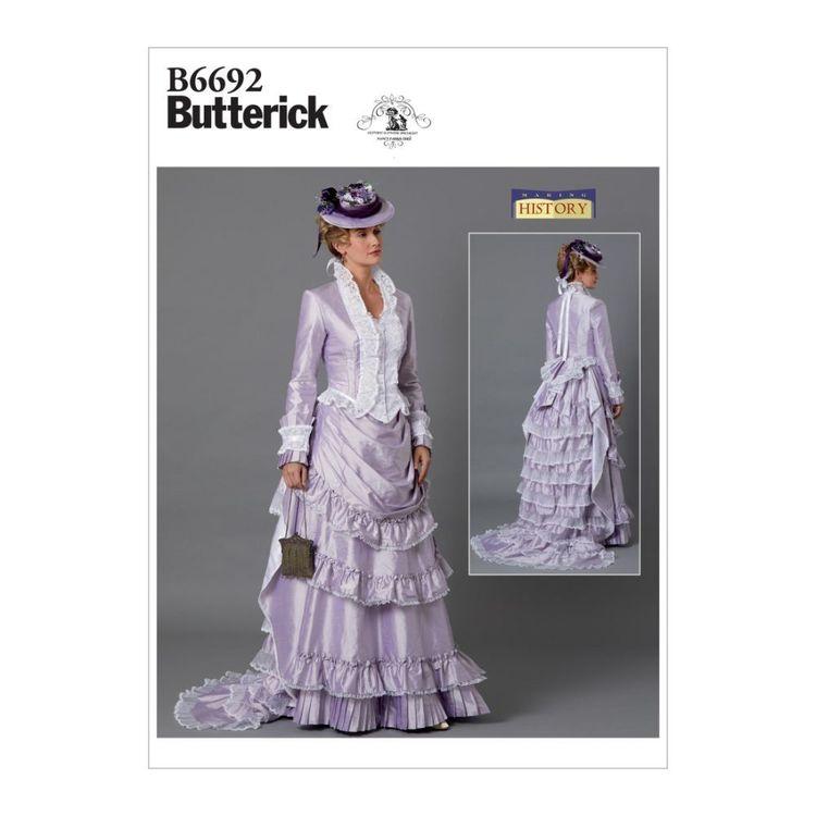 Butterick Pattern B6692 Nancy Farris-Thee Making History Misses' Costume