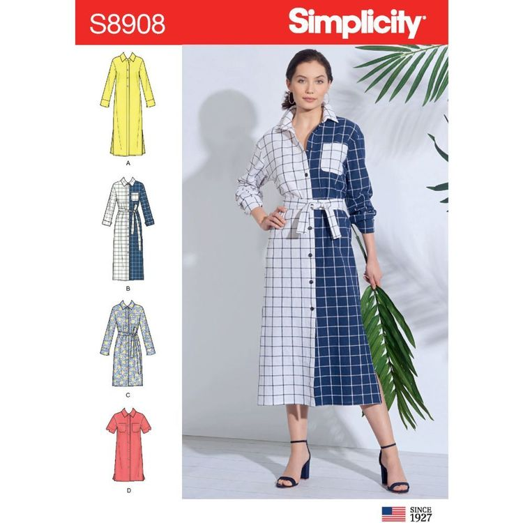 Simplicity Sewing Pattern S8908 Misses' Shirt Dress