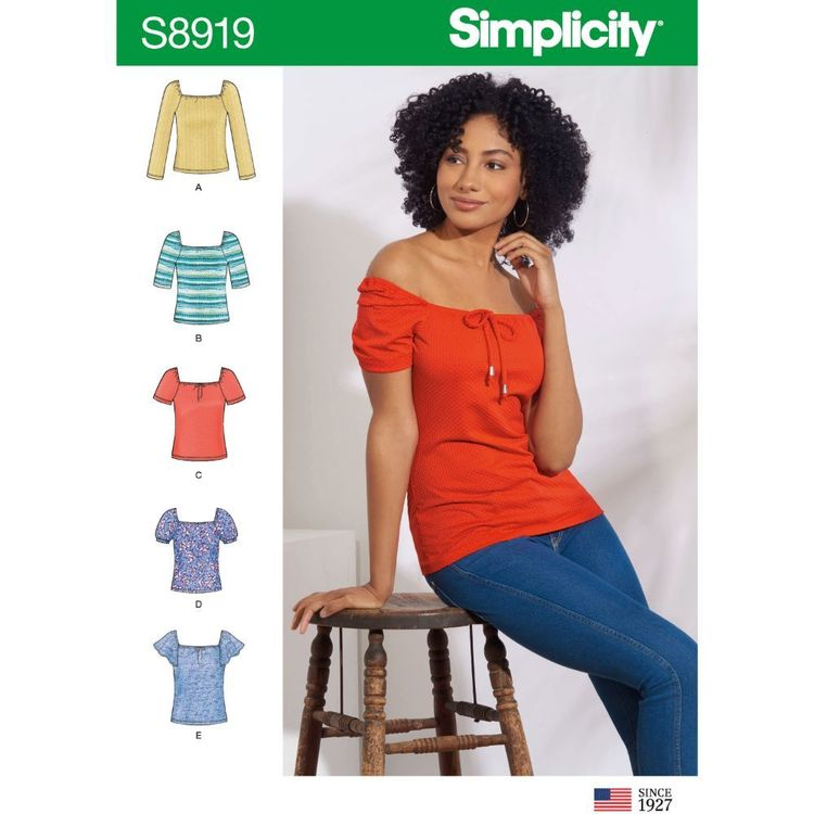 Simplicity Sewing Pattern S8919 Misses' Knit Tops