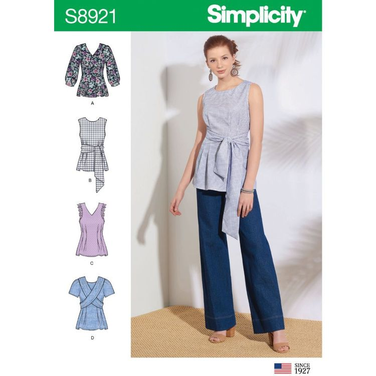 Simplicity Sewing Pattern S8921 Misses' Tops