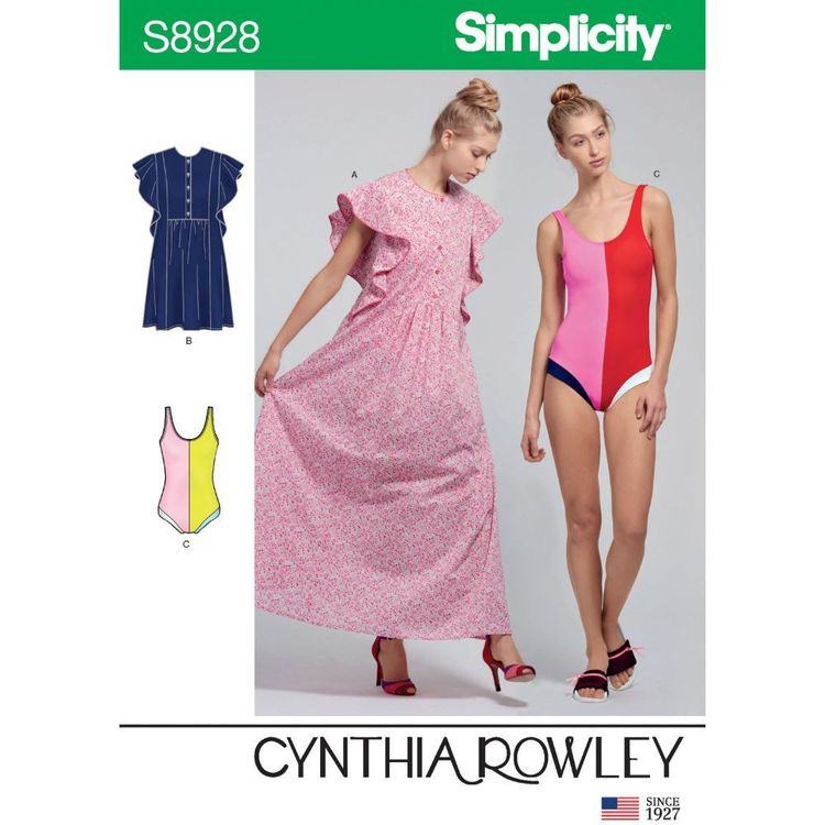 Simplicity Sewing Pattern S8928 Misses' Swimsuit and Caftans by Cynthia Rowley