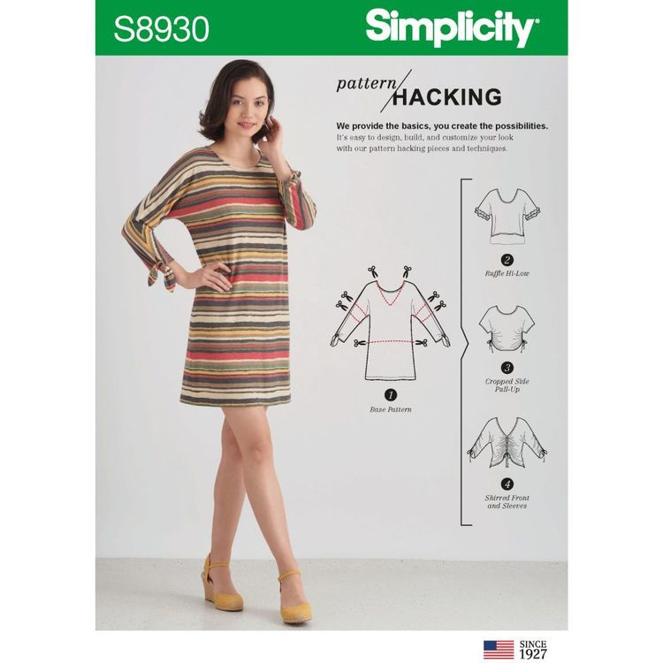 Simplicity Sewing Pattern S8930 Misses' Top with Options for Design Hacking
