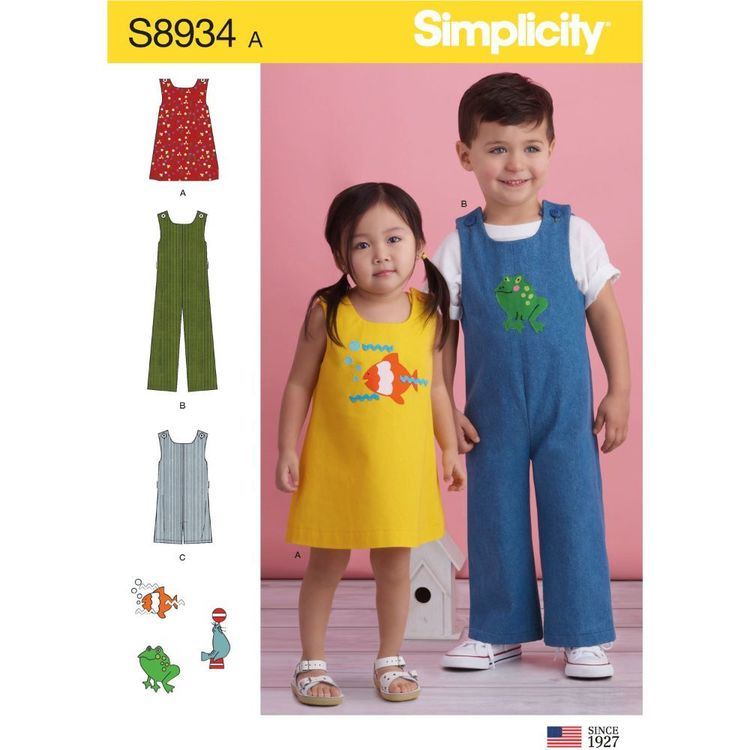 Simplicity Sewing Pattern S8934 Toddler's Jumper, Jumpsuit, and Romper