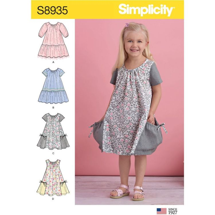 Simplicity Sewing Pattern S8935 Children's Dresses