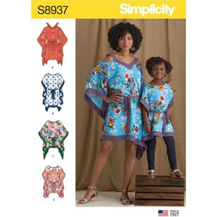 Simplicity Sewing Pattern S8937 Children's and Misses' Caftans
