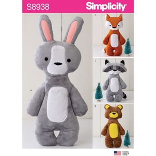 Simplicity Sewing Pattern S8938 Stuffed Animals