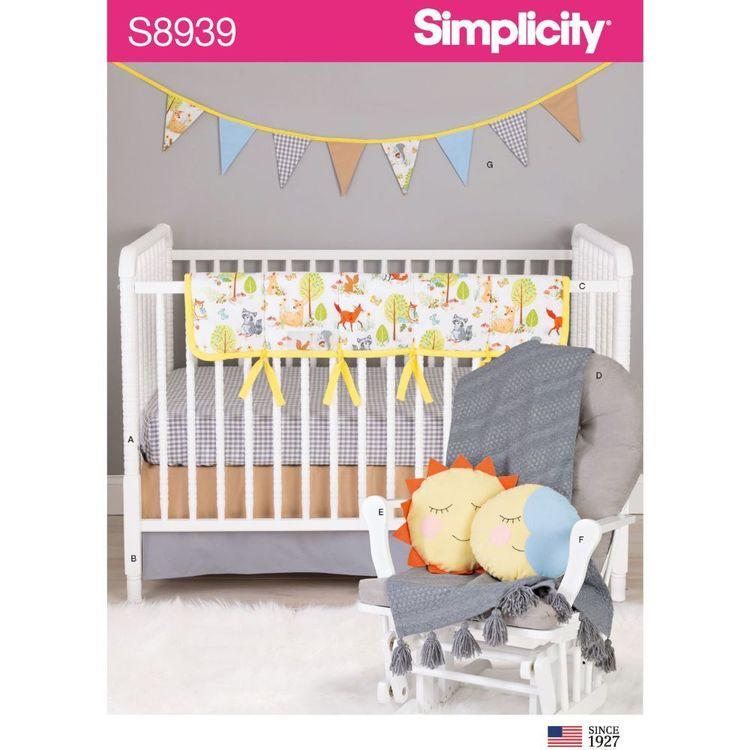 Simplicity Sewing Pattern S8939 Nursery DEcor