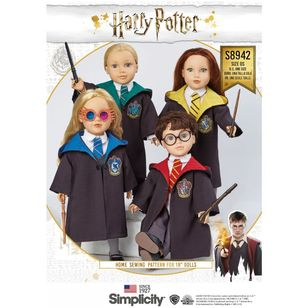 Simplicity Sewing Pattern S8942 Harry Potter Doll Clothes