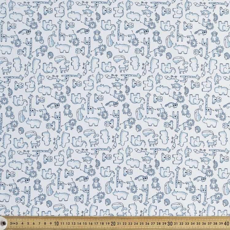 Animals Printed 112 cm Organic Cotton Jersey