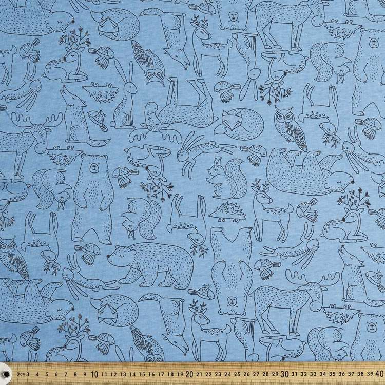 Woodland Printed 112 cm Organic Cotton Jersey