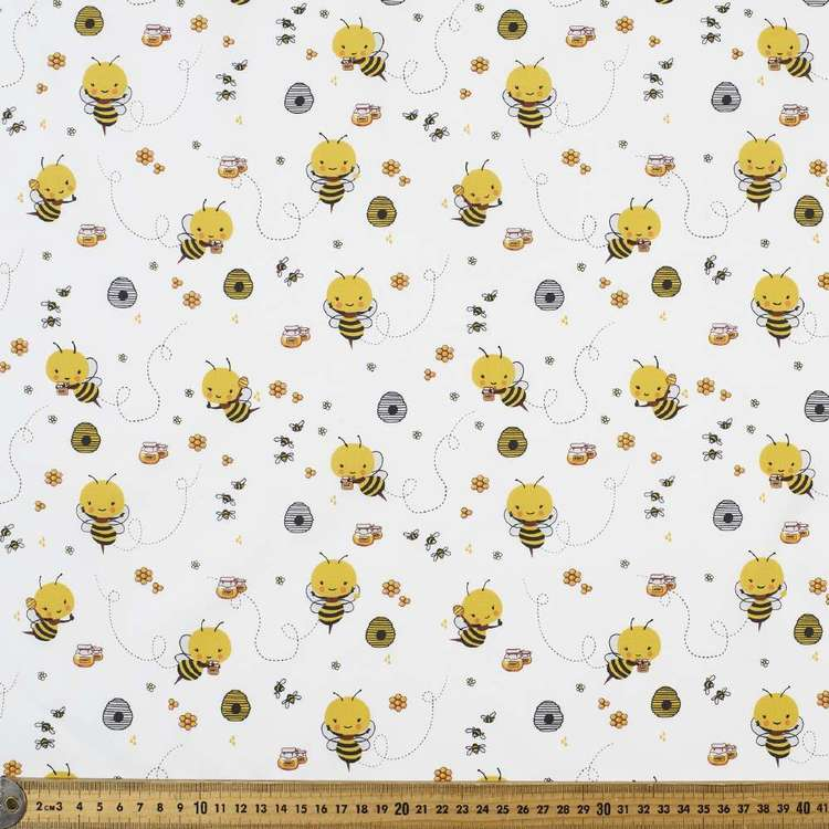 Bee World Printed Cotton Fabric