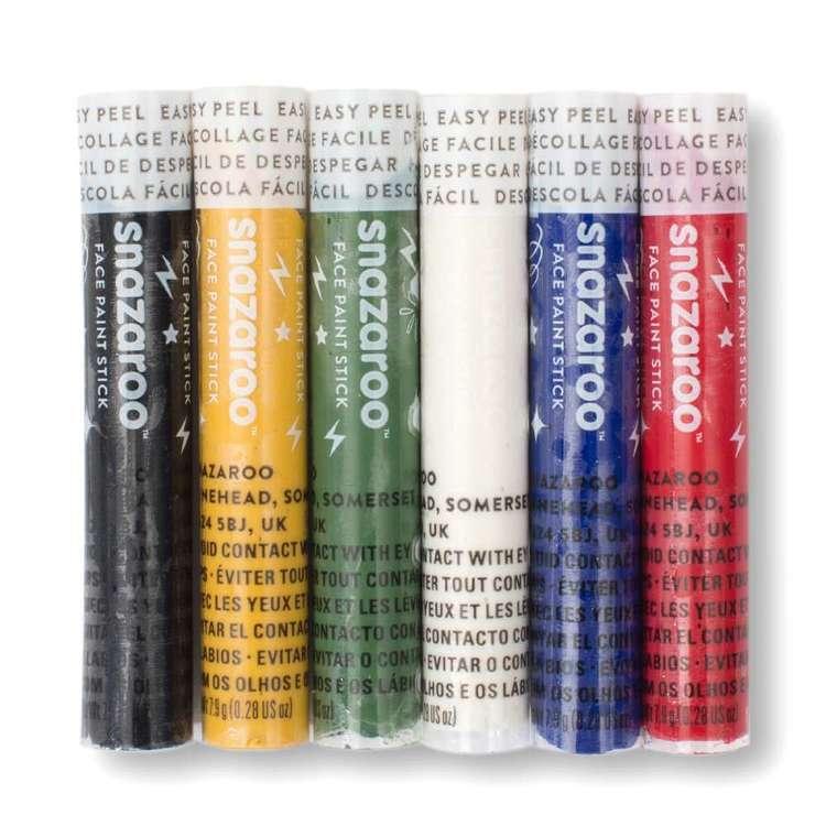 Snazaroo Unisex Face Paint Sticks 6 Pack