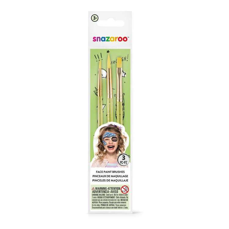 Snazaroo Face Paint Brushes 3 Pack