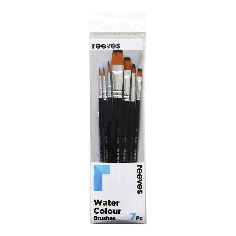 Reeves Water Colour 7 Pack Gold Brushes