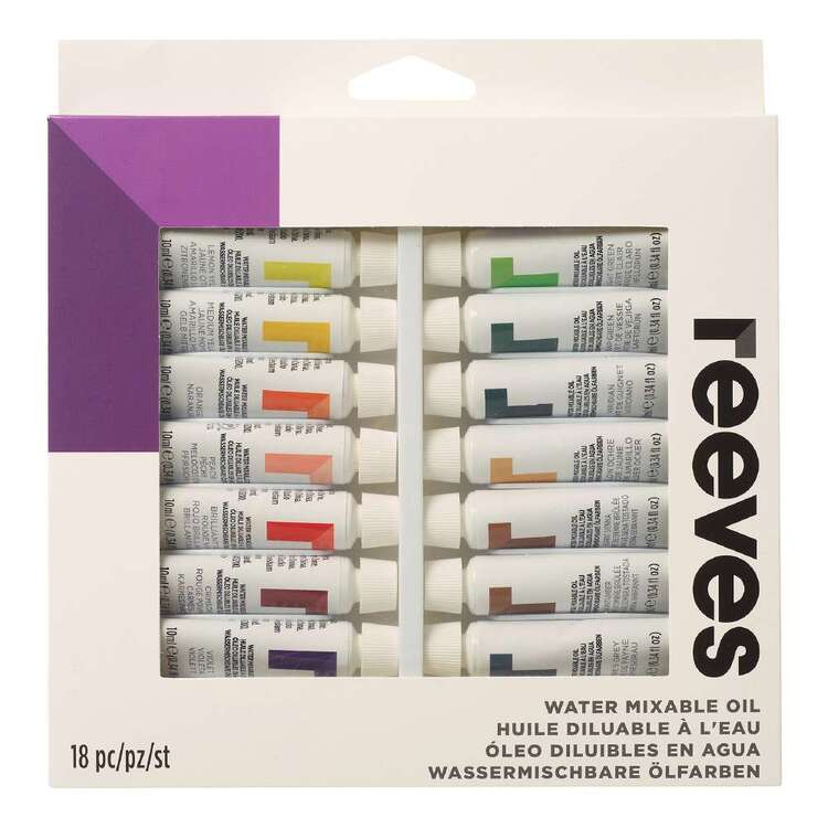 Reeves Water Mixable Oil Paint Set