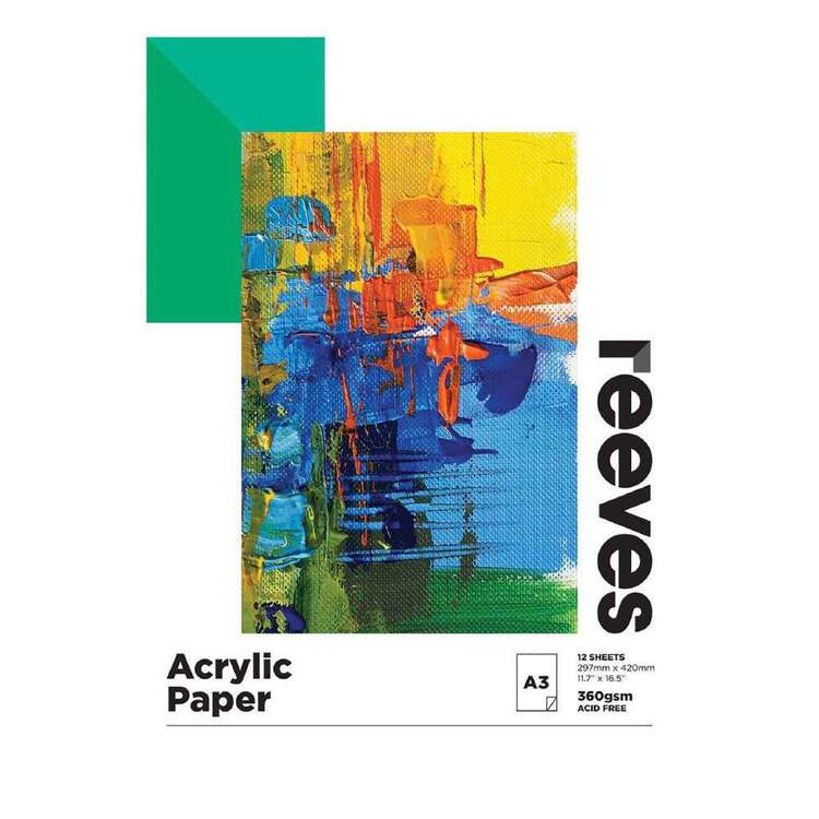 Reeves 360 gsm Acrylic Pad