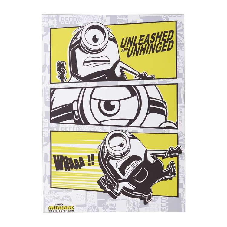 Tag Minions Unleashed Canvas Yellow, White & Black 50 x 70 cm