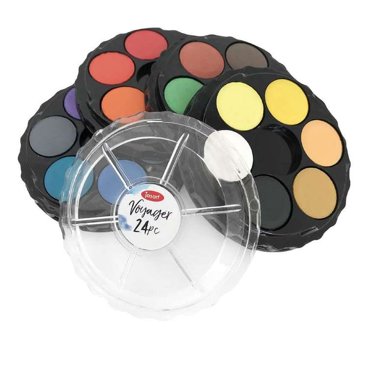 Jasart Voyager Water Colour Discs Set 24