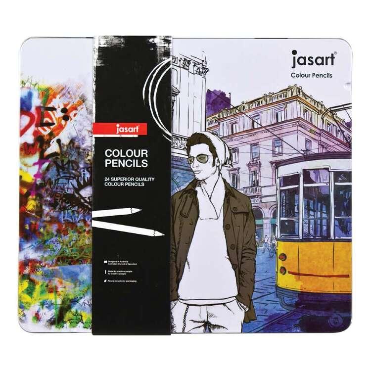 Jasart 24 Colour Pencils Tin