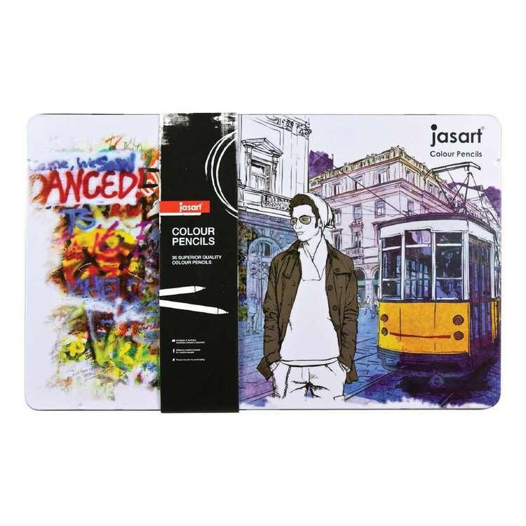 Jasart 36 Colour Pencils Tin