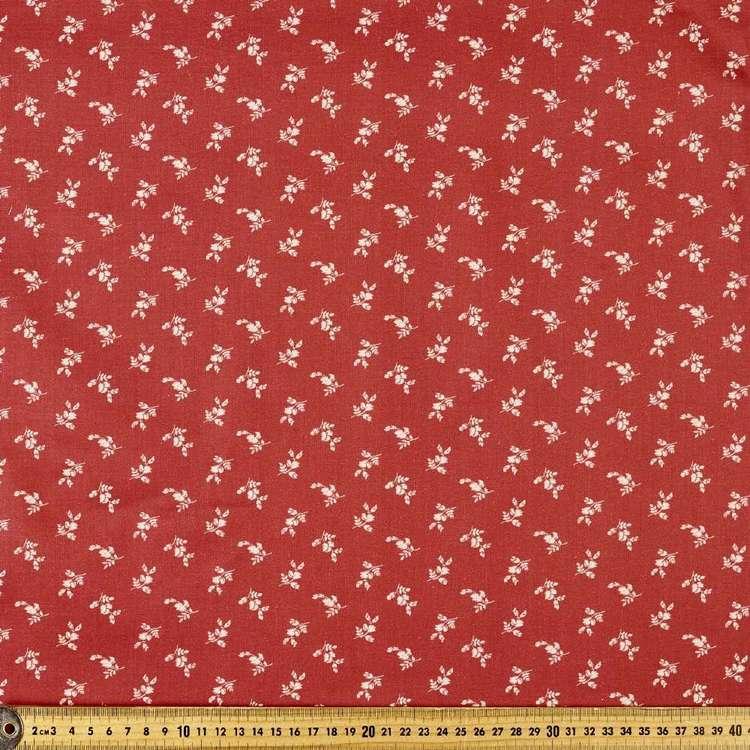 P & B Textiles Digital Vintage Prestige Spaced Flowers Cotton Fabric