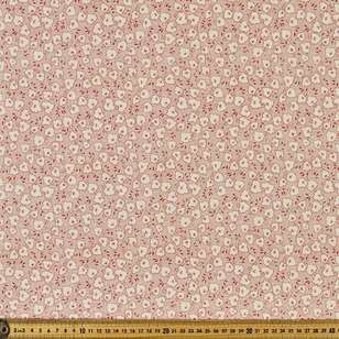 P & B Textiles Digital Vintage Prestige Tossed Leaves Cotton Fabric