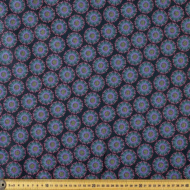 P&B Textiles Digital Forest Fancy Circle Flower Cotton Fabric