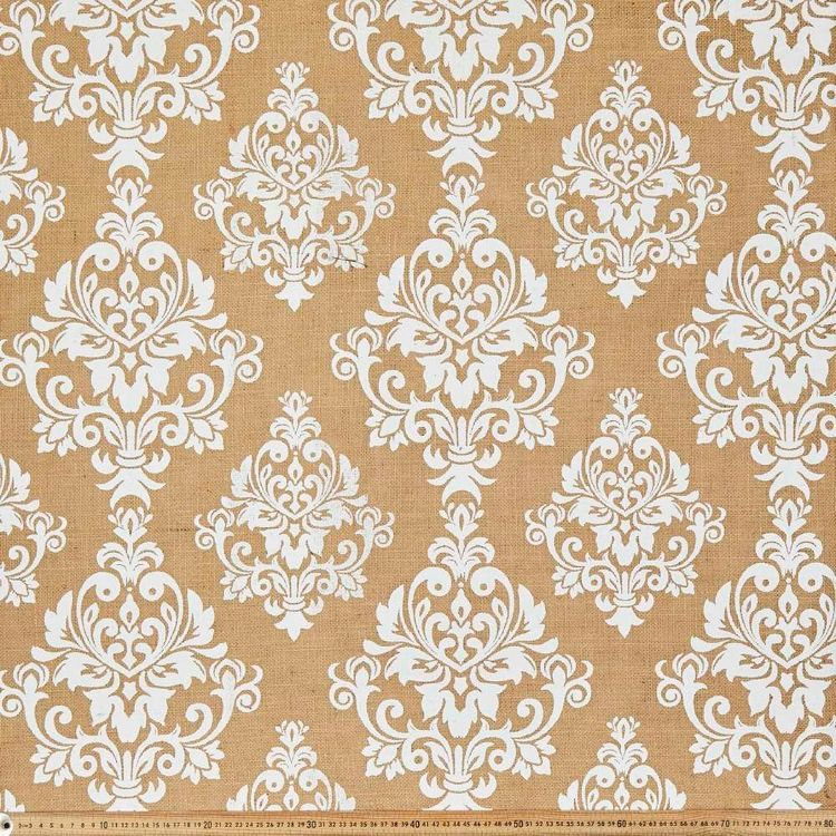 Damask Printed Hessian