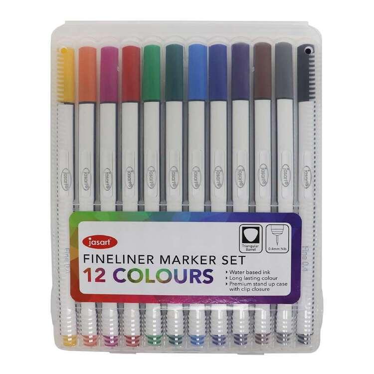 Jasart Set Of 12 0.4 mm Fine liner Marker Set