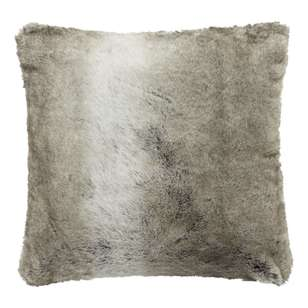 Bouclair Faux Fur Wolf Cushion