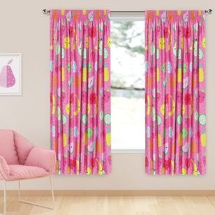 Caprice Fruit Salad Blockout Pencil Pleat Curtains
