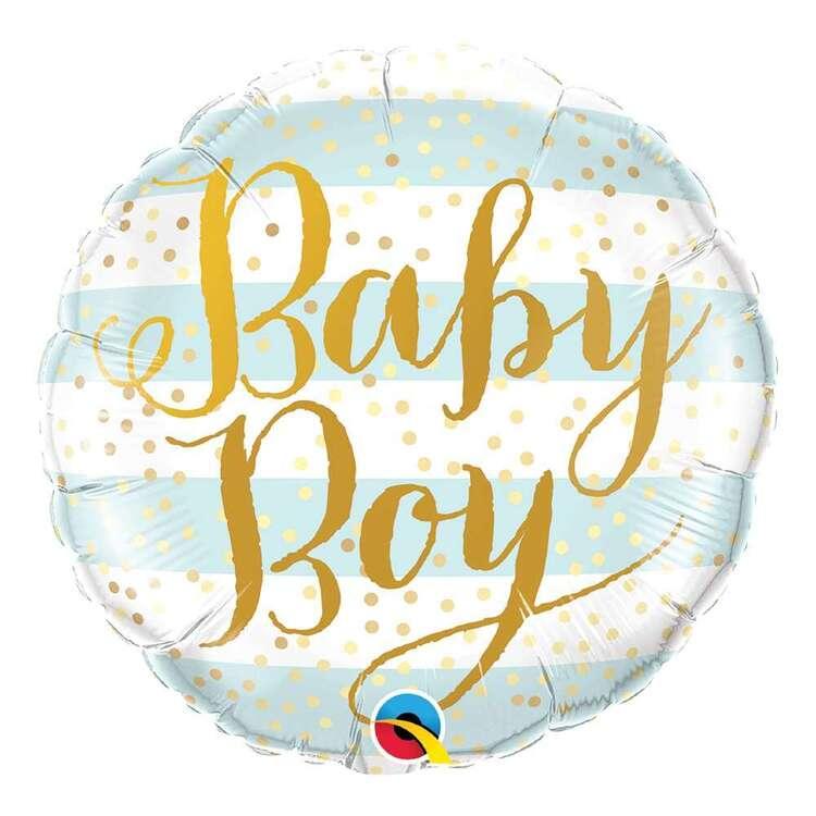 Qualatex Baby Boy Stripes Foil Balloon