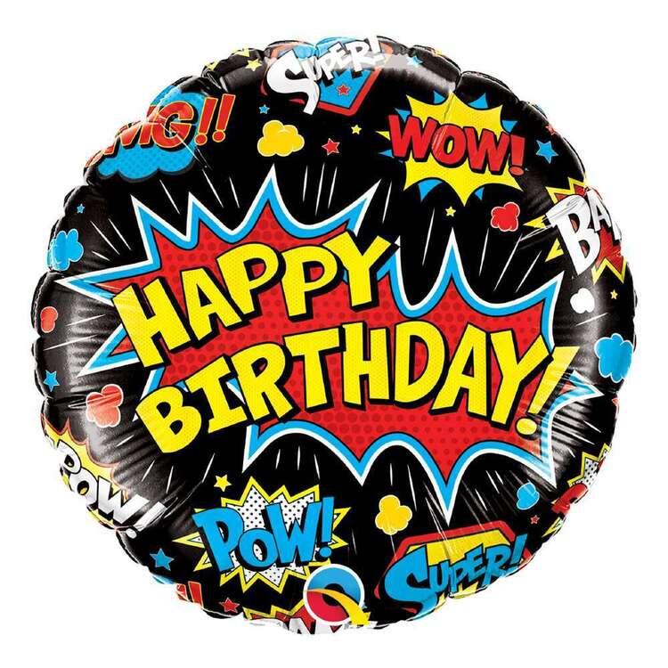 Qualatex Superhero Birthday Foil Balloon